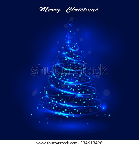 Shining christmas tree, the magic christmas tree, shinny christmas tree.Happy new year and merry christmas abstract background.Vector illustration - stock vector