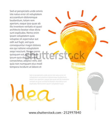 Shining creative idea. Light bulb. Vector illustration - stock vector