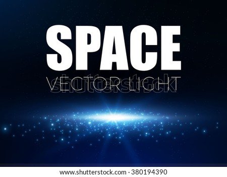 Shining Empty Space Background. Floor with Lights. Disco & Win Design. Universe Concept. Vector illustration - stock vector