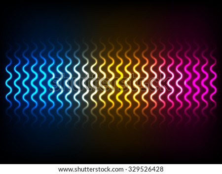 Shining glowing background with stripes for your beauty design. Vector illustration - stock vector