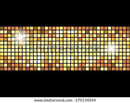 Shining LED lights - stock vector
