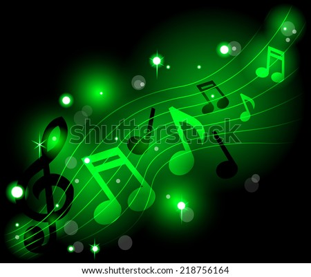 Shining musical notes - stock vector