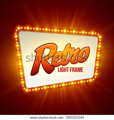 Shining retro light banner.  Vector illustration EPS 10 - stock vector