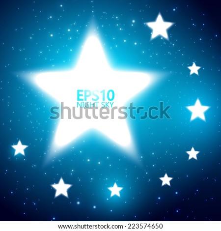 Shining stars abstract background. Vector illustration - stock vector
