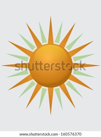 shining sun - stock vector