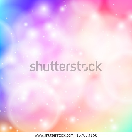 Shining vector abstract bokeh background in soft pink. Glowing backdrop for web banner, Valentines card, holiday invitation, seasonal greetings, music poster, spa advertising, spring or summer sale ad - stock vector