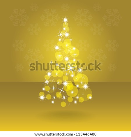 Shiny abstract christmas tree, illustration