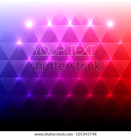 Shiny Abstract Triangles Background for Design - Vector Illustration - stock vector