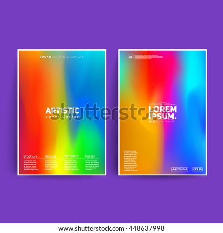 Shiny artistic posters. Cool fluid colors. Applicable for covers, posters, banners,brochure etc. Eps10 vector template. - stock vector