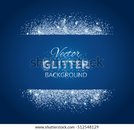 Shiny background glitter frame space text stock vector 512548129 shiny background with glitter frame and space for text vector glitter decoration snow border stopboris