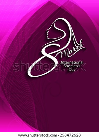 Shiny beautiful background design for Women's day. Vector illustration - stock vector