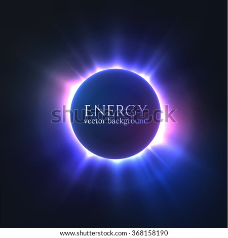 Shiny colorful circle frame. Can be used for science presentations, web banners. Eps10. - stock vector