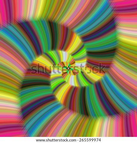 Shiny colorful spiral fractal design - stock vector