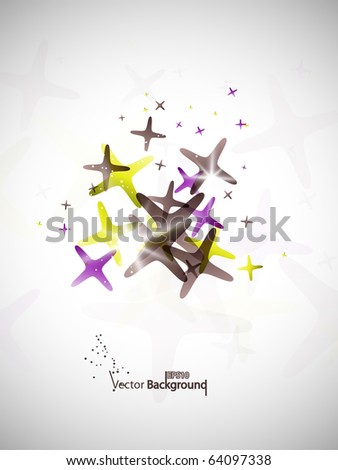 Shiny geometrical background. Vector illustration. - stock vector