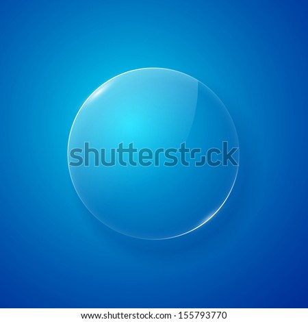 Shiny glass web button. Vector illustration - stock vector
