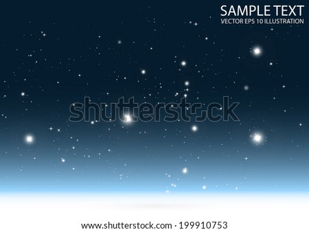 Shiny glitter sky blue background vector illustration - Shiny vector blue sparkle space template
