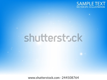 Shiny glitters background vector illustration - Vector abstract sparkling blue background template - stock vector
