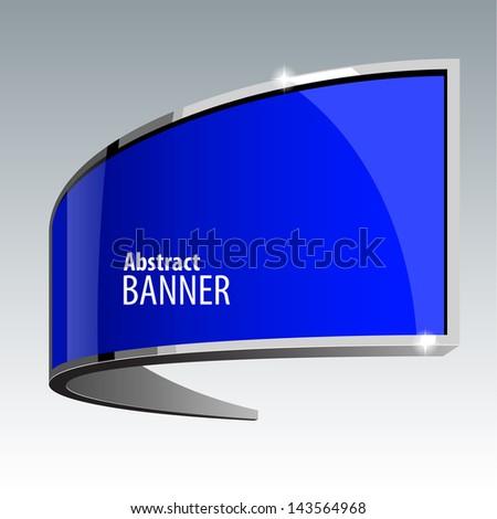 Shiny gloss blue vector banner eps 10 - stock vector