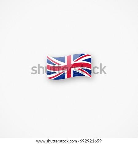 Shiny Glossy Small Waving Union Jack Vector de stock692921659 ...