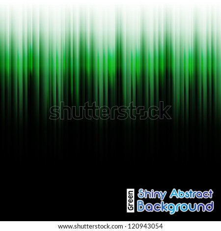 Shiny Green Neon Abstract Background - stock vector