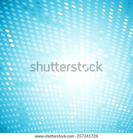 Shiny light halftone blue background. Vector design - stock vector