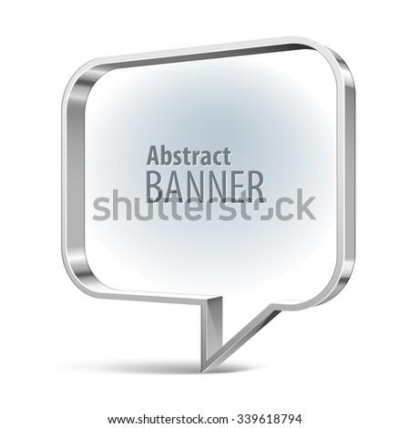 Shiny metal vector banner. eps 10 - stock vector