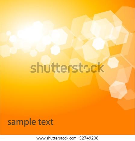 Shiny Orange Background - stock vector