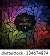 Shiny paisley (drops) background. - stock vector