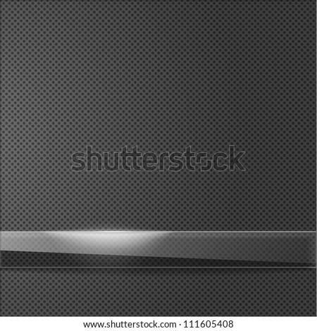 Shiny plate on metallic dot surface - stock vector