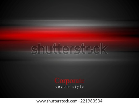 Shiny red stripes vector background - stock vector