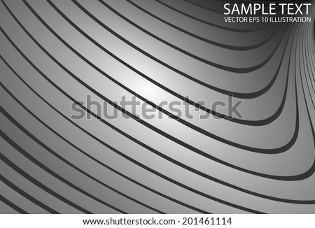 Shiny silver vector background template - Silver metal abstract vector background illustration