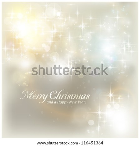 Shiny stars and light effects like lens flare and out of focus lights for a magical abstract background for the festive Christmas season to come. - stock vector