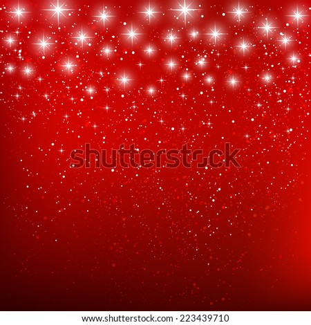 Shiny stars on blue background - stock vector