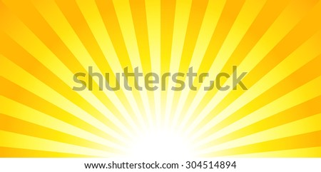 Shiny summer banner, sunburst, starburst design - stock vector