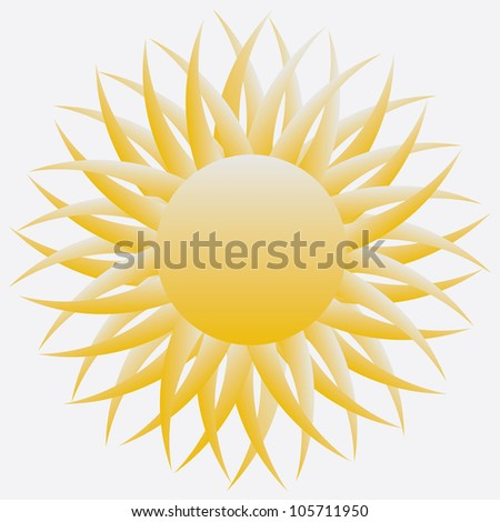 Shiny sun - stock vector