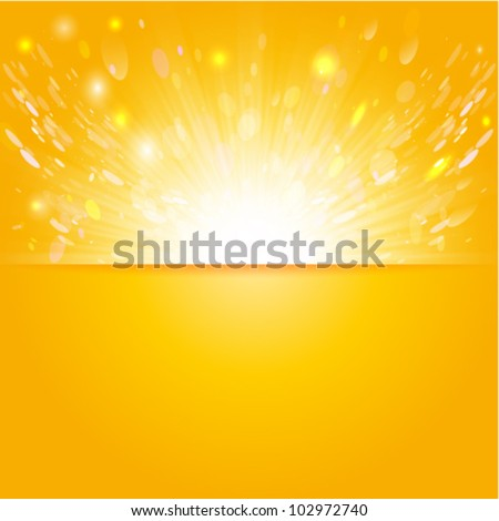 shiny sun vector, sunbeams, sunrays - stock vector