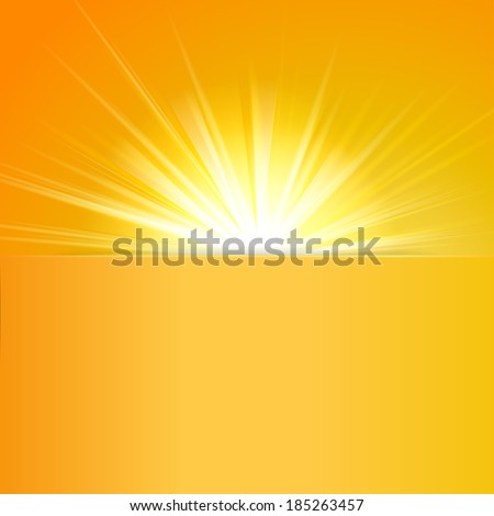 shiny sun vector with place for text