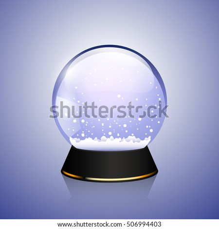 Shiny Transparent snow globe, christmas souvenir