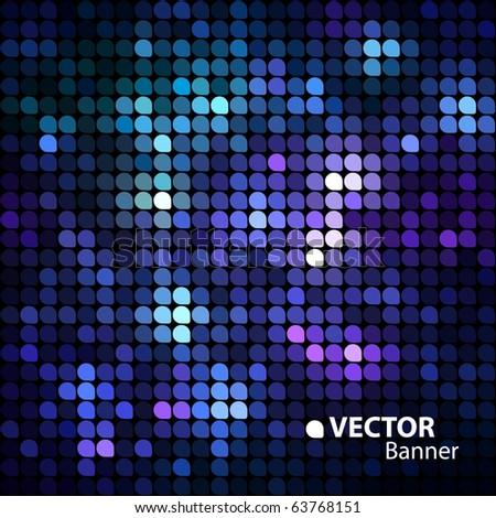 shiny vector banner - stock vector