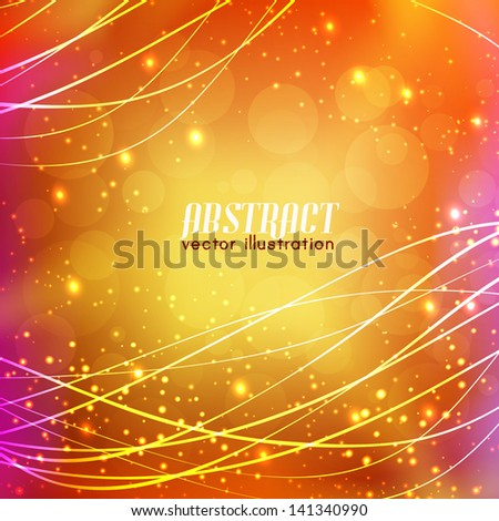 Shiny wave abstract background. Vector Illustration, eps10, contains transparencies. - stock vector