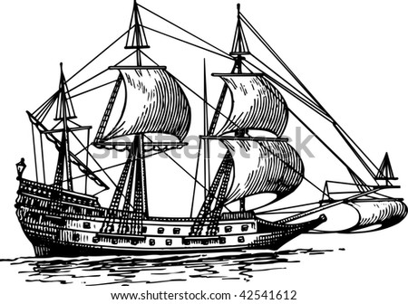 Ship - stock vector