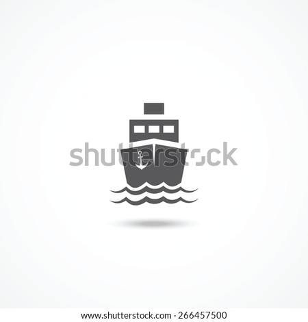 Ship icon - stock vector