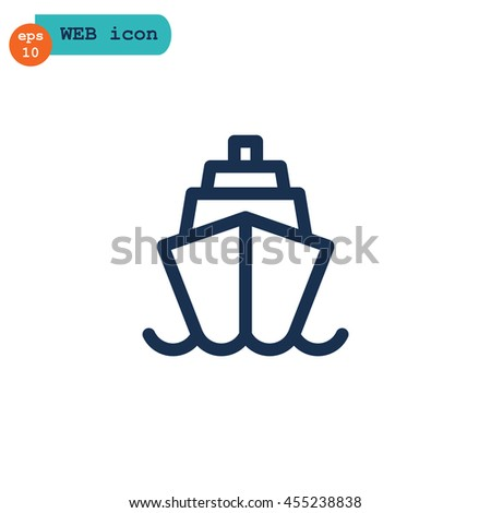 Ship icon Flat. - stock vector