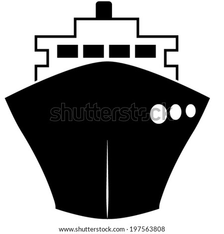 ship icons - stock vector