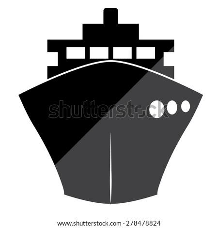 ship icons - stock vector