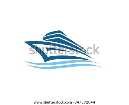 Ship logo  - stock vector