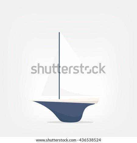 ship model vector illustration - stock vector