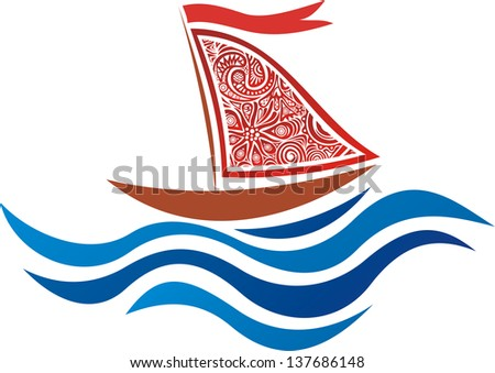 Ship sea vector illustration - stock vector