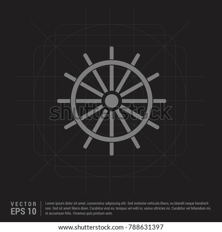 Ship steering wheel icon - Black Creative Background