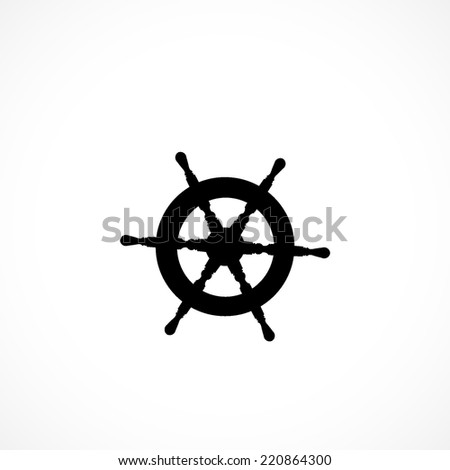 ship steering wheel icon isolated on white background - stock vector